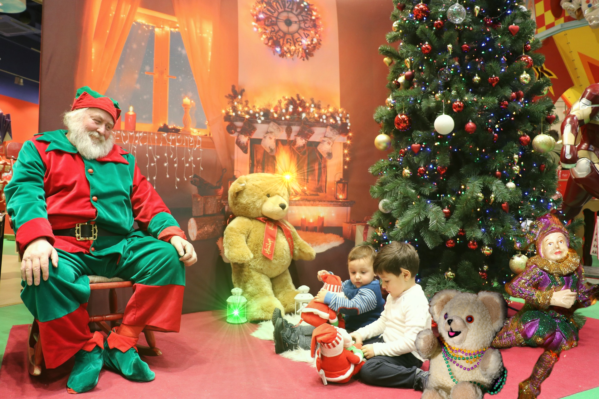 Santa Claus Celebrates Mardi Gras